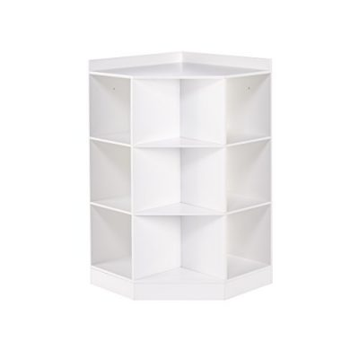 RiverRidge 6-Cubby, 3-Shelf Kids Corner Cabinet, White