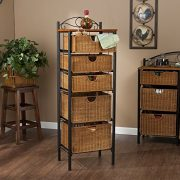 5 Drawer Storage Unit w/ Wicker Baskets - Versatile Tower