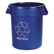 Carlisle Bronco Recycle Waste Container, 32-gal. Capacity
