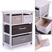 Cypress Shop White 4 Woven Basket Drawers Storage Unit