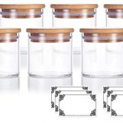 4 oz Premium Borosilicate Clear Glass Jars with Bamboo Silicone Sealed Lid