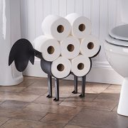 ART & ARTIFACT Sheep Toilet Paper Roll Holder - Metal Wall Mounted