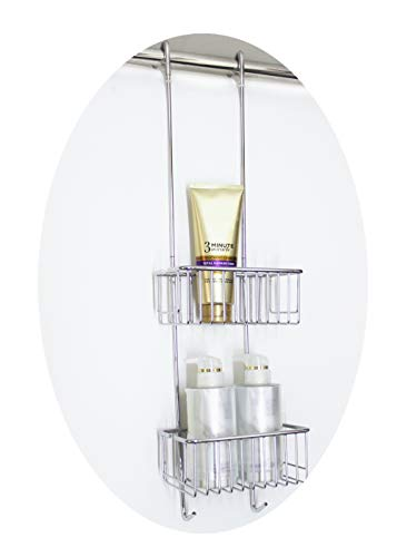 magionline Shower Caddies Hanging Basket 2-Tier Brass