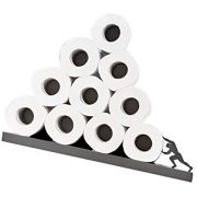 Artori Design Sisyphus | Metal Gray Shelf for Toilet Paper Rolls