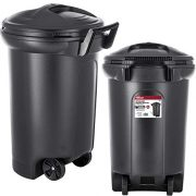 32 Gallon Wheeled Trash can Garbage Container Outdoor Plastic Waste