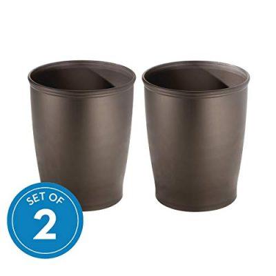 iDesign Kent Plastic Wastebasket Small Round Plastic Trash Can for Bathroom