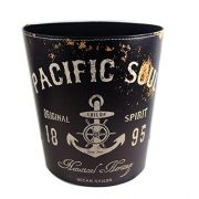 KiaoTime Waste Bin - Vintage Rustic Decorative Anchor Design