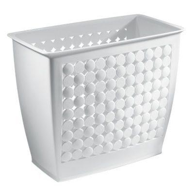 iDesign Orbz Plastic Wastebasket, Trash Can for Bathroom, Bedroom