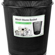 Greenco Mesh Wastebasket Trash Can, 4.5 Gallon, Black