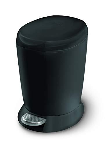 simplehuman 6 Liter / 1.6 Gallon Compact Plastic Round Bathroom Step Trash Can