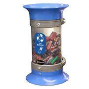Glasdon C-Thru 5Q Battery Recycling Bin - Blue