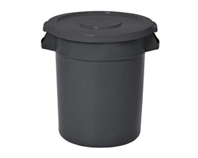 Wisechoice Durable 10 Gallon Round Receptacle Trash Can