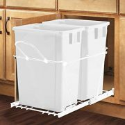 Smart Design Double Roll-Out 24 Liter Container Waste Basket