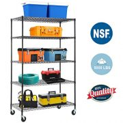 5-Wire Shelving Unit Steel Large Metal Shelf Organizer Garage Storage