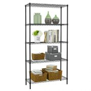 5 Shelf Wire Shelving Unit Garage NSF Wire Shelf Metal Large Storage