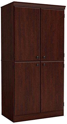 South Shore Tall 4-Door Storage Cabinet with Adjustable Shelves