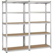 Yaheetech 2 Packs Heavy Duty 5-Shelf Commercial Garage Shelving Unit