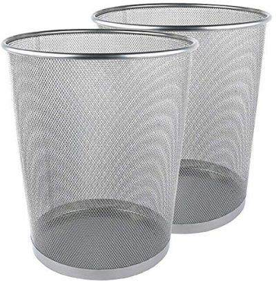Greenco Mesh Wastebasket Trash Can, 6 Gallon