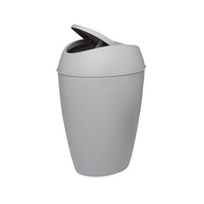 Umbra Twirla, 2.4 Gallon Trash Can with Swing-top Lid