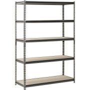 Muscle Rack 5-Shelf Steel Shelving, Silver-Vein
