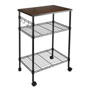 alvorog 3-Tier Rolling Kitchen Cart, Microwave Storage Rack Utility