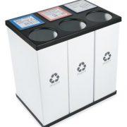 RecycleBoxBin Plastic Light Weight Large Triple Recycling Bin
