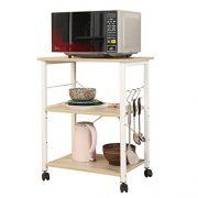 sogesfurniture 3-Tier Kitchen Baker's Rack Utility Shelf Microwave