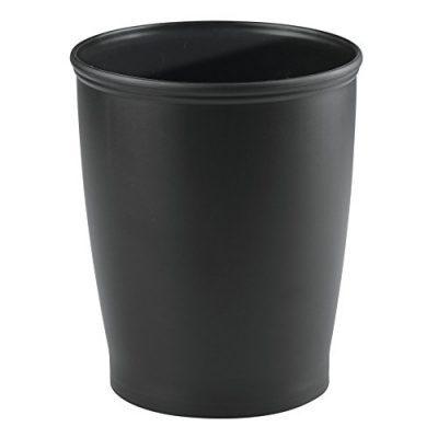 iDesign Kent Plastic Wastebasket, Small Round Plastic Trash Can for Bathroom