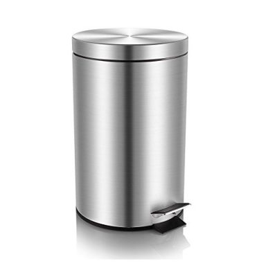 Mini Trash Can with Lid Soft Close, Magdisc Round Bathroom Trash Can