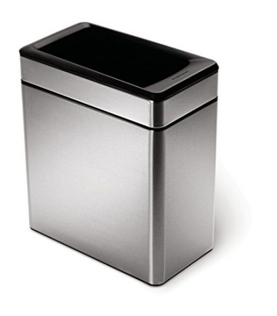 simplehuman 10 Liter / 2.6 Gallon Profile Open Trash Can