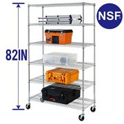 6 Tier Wire Shelving Unit Heavy Duty Height Adjustable