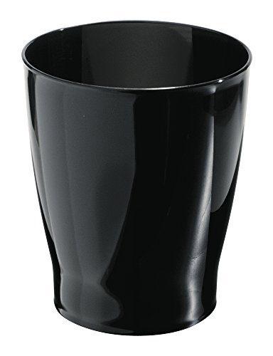 iDesign Franklin Plastic Wastebasket, Trash Can for Bathroom