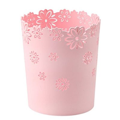 Wastebasket,Hmane Hollow Flower Shape Plastic Lidless Wastepaper Baskets