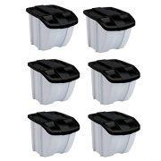 Suncast 18 Gallon Indoor or Outdoor Recycle Storage Bin