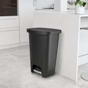 GLAD Plastic Step Trash Can with Clorox Odor Protection of The Lid
