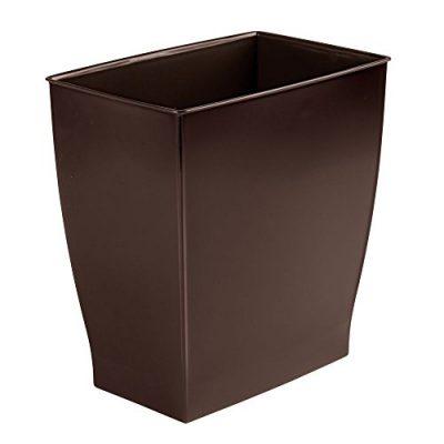 mDesign Rectangular Trash Can Wastebasket, Small Garbage Container Bin