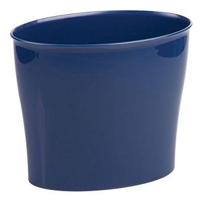 iDesign Nuvo Plastic Waste Basket, Trash Can for Bathroom, Kitchen