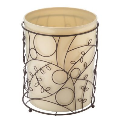iDesign Twigz Metal Wire and Plastic Wastebasket Trash Can