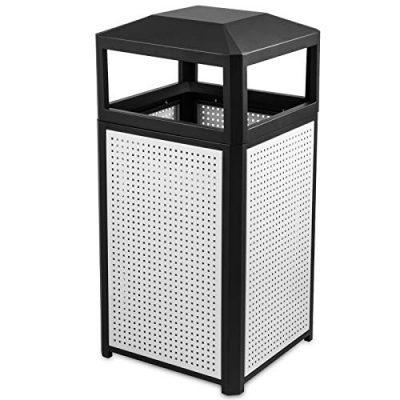 BestEquip Garbage Can 15 Gallon Trash Cans Commercial Outdoor Trash Can