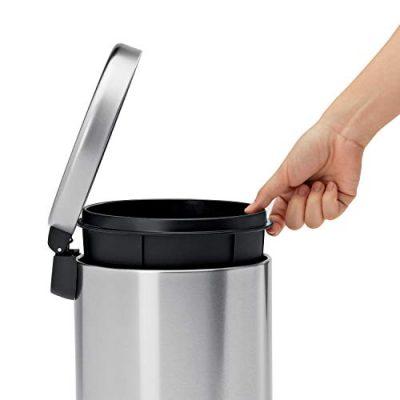 simplehuman 4.5 Liter / 1.2 Gallon Compact Round Bathroom