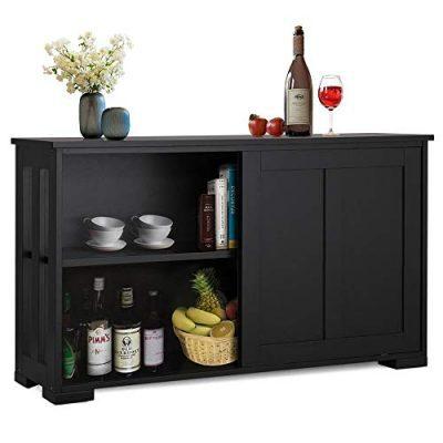 Yaheetech Buffet Sideboard with Sliding Door and Adjustable Shelf Stackable