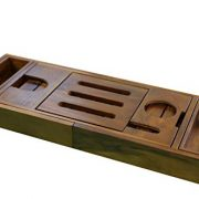 Ala Teak Wood Luxury Bathtub Caddy Tray with Extendable Sides and Bed Tray