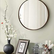 "TinyTimes 23.63"" Large Clean Round Wall Mirror, Circle Vanity Mirror"