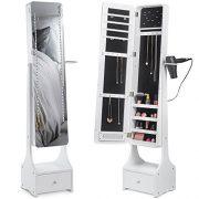 Beautify Jewelry Organizer Jewelry Cabinet Armoire, Full Length Illuminating Mirror