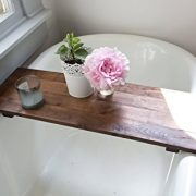 Rustic Bathtub Tray Walnut Bath Tub Caddy Farmhouse Decor Handmade