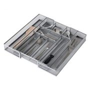 Expandable Kitchen Drawer Cutlery Tray Mesh Silverware Organizer