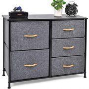 CERBIOR Drawer Dresser Closet Storage Organizer 5-Drawer Closet Shelves