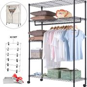 JS HOME Wardrobe Storage Organizer/Garment Rack