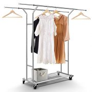 Simple Trending Double Rail Clothing Garment Rack