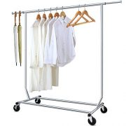 Camabel Clothing Garment Rack Heavy Duty Adjustable Rolling
